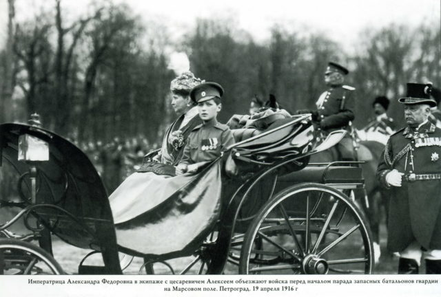 Alexandra Feodorovna with Tsesarevich Alexei 1916.