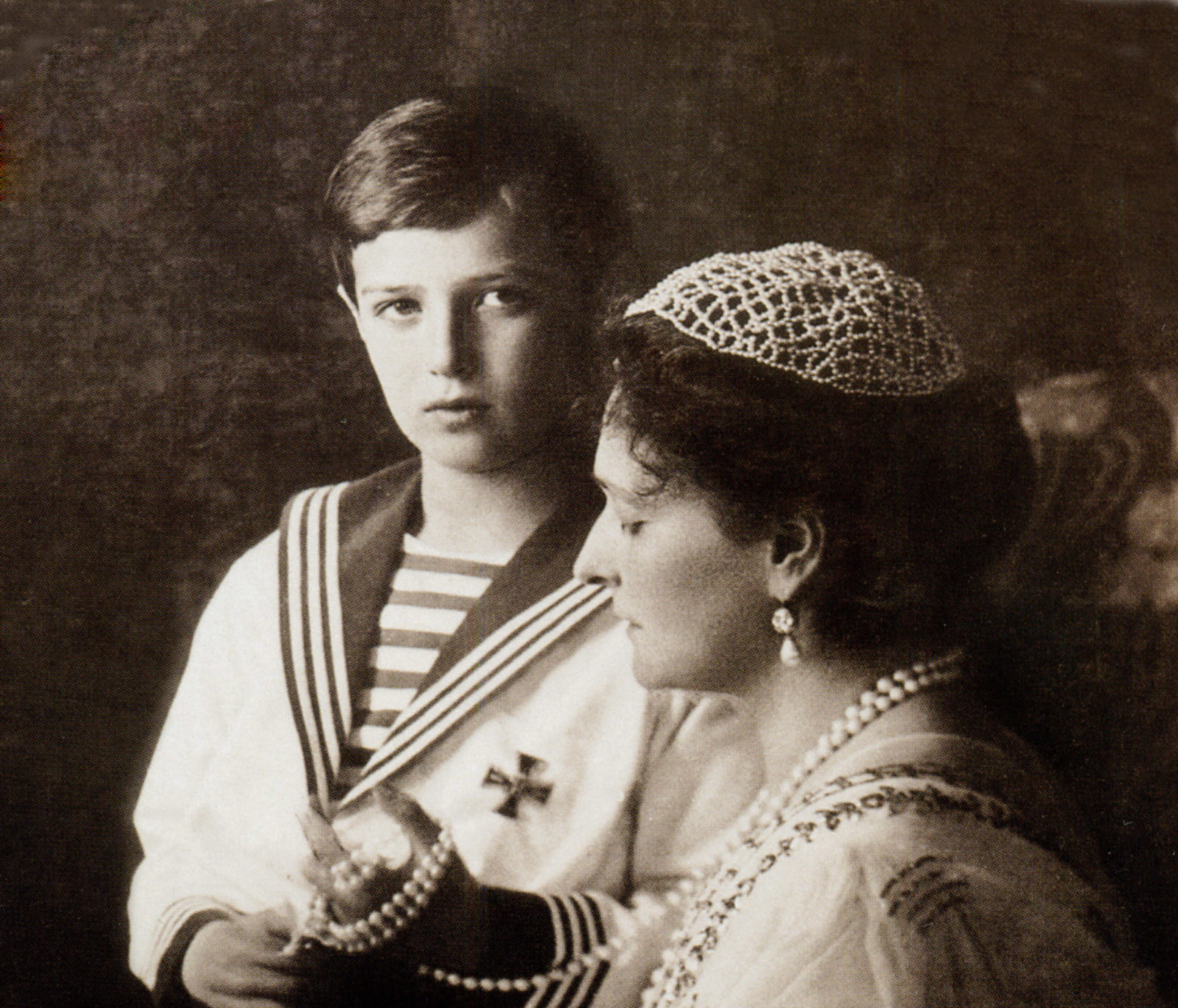 Alexandra Feodorovna  with Tsesarevich Alexei