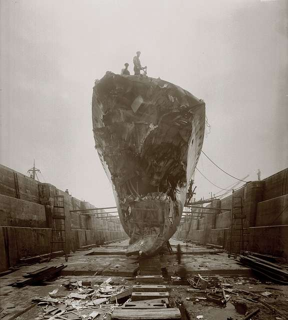 Damage suffered by HMS Broke at the Battle of Jutland