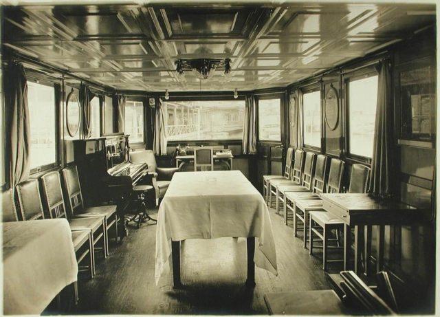 """Steamer """"Golovachev"""". Dining room. 1916"""