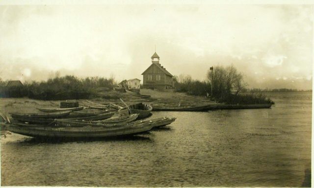 "Dnepr River Views. Steamer ""Golovachev."" 1916."
