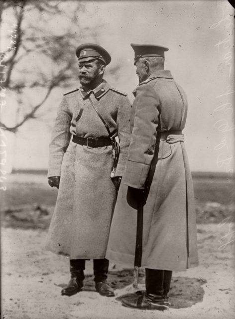 General Brusilov and Nicholas II. 1915