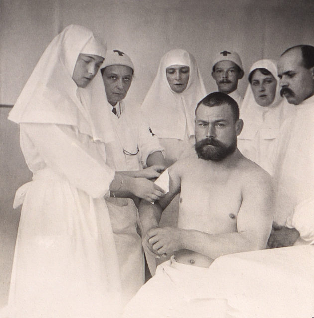 Grand Duchess Tatiana Nicholaevna with wounded