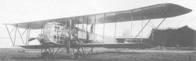 Heavy bomber Ilya Muromets IM series D, Pskov air field. Summer 1916