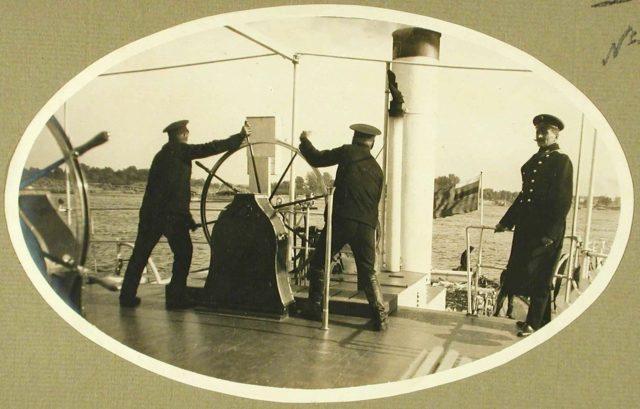"Helmsman. Steamer ""Golovachev."" 1916."