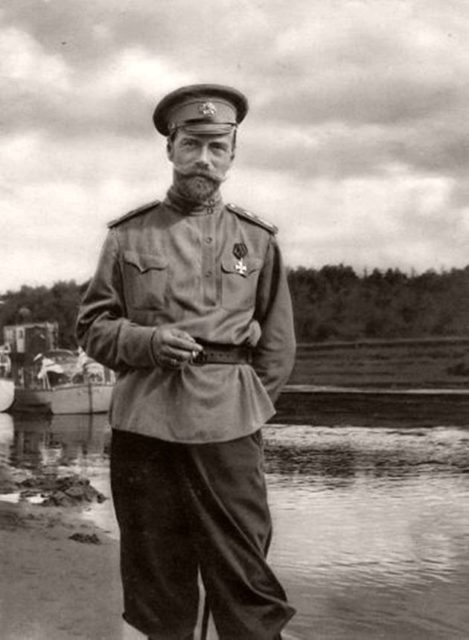 Nicholas II in the vicinity of Mogilev. 1916