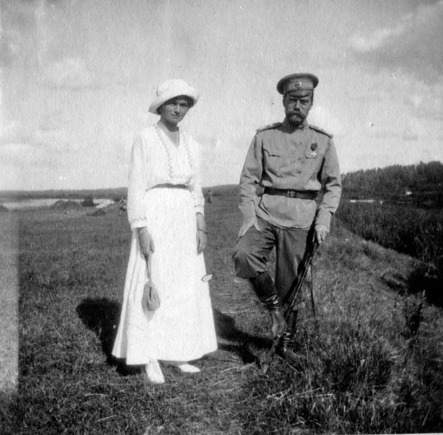 Nicholas II with Grand Duchess Olga