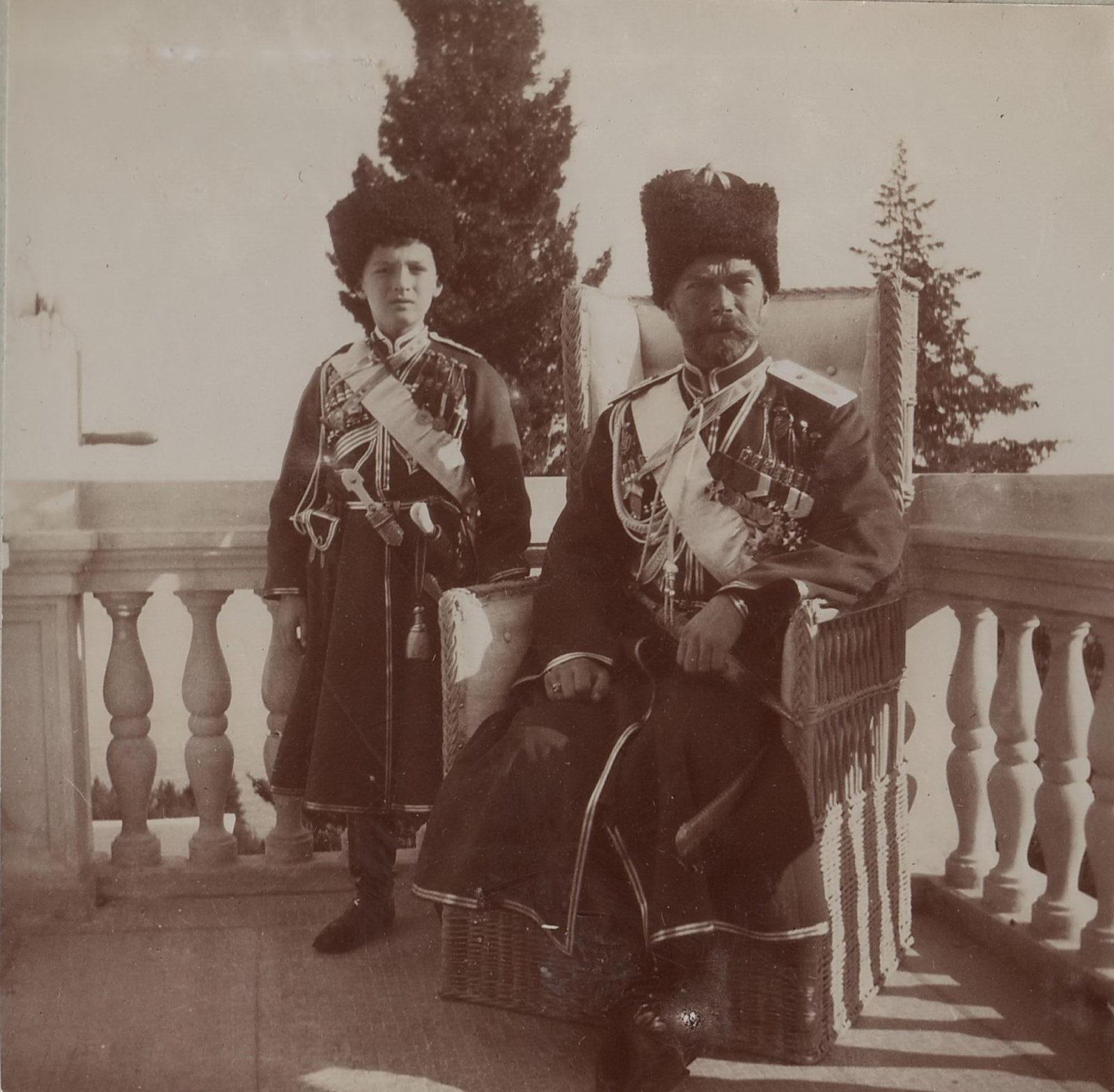 Nicholas II with Tsarevich Alexei. Livadia, 1912-1916
