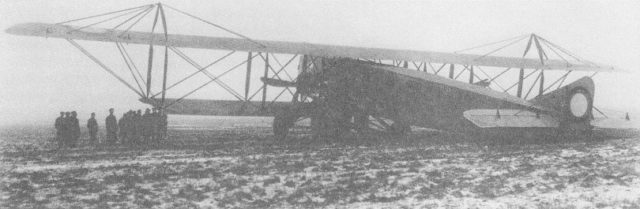 Syatogor heavy bomber after wheels incident