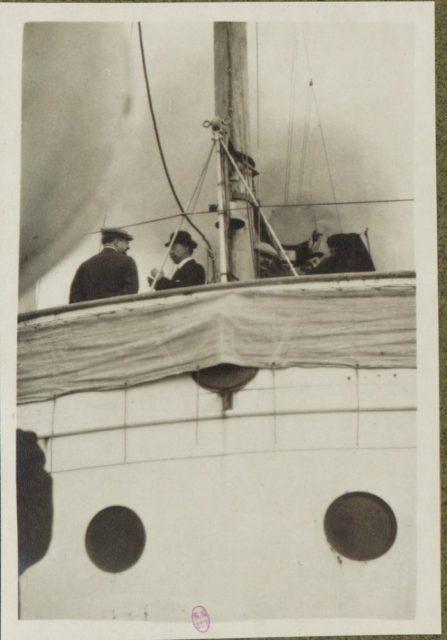 "Albert Thomas on merchant cruiser ""Champagne""."