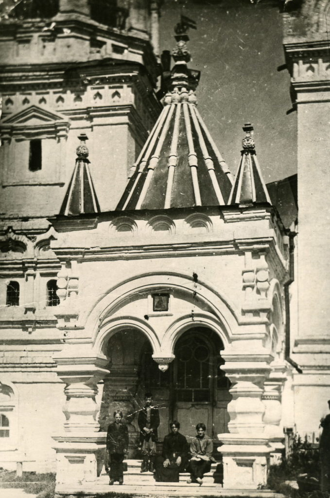 Annunciation Monastery, cathedral entrance. Murom, Vladimir Province, Russia