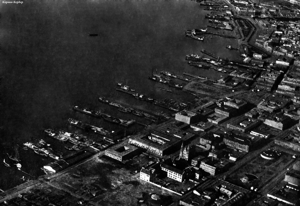 Baku Port. Aerial photography.