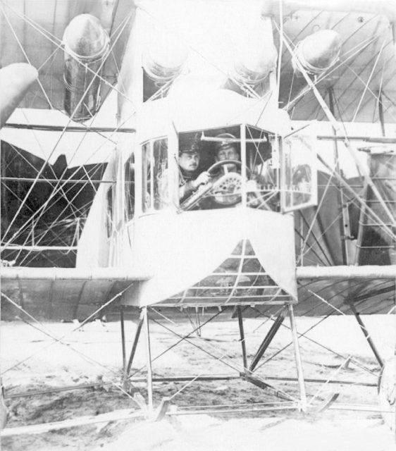 Cabin of Heavy bomber Ilya Muromets V-9 nose part