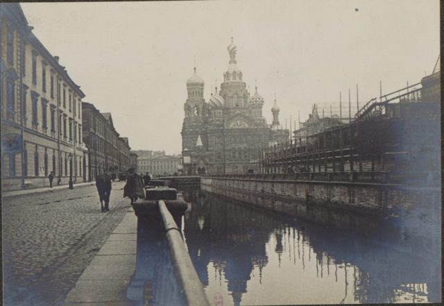 Church of the Savior on Blood. Saint Petersburg in 1917.
