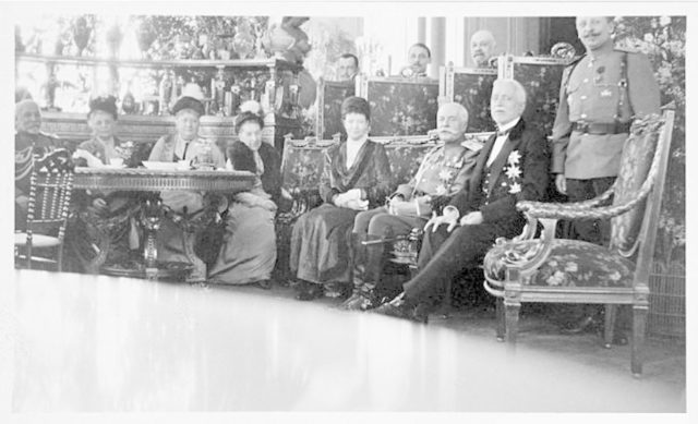 Dowager Empress Maria Fedorovna meeting with Russian Red Cross.