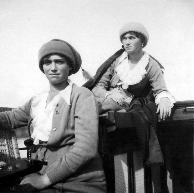 Grand duchesses  Maria and Olga .1916.
