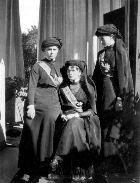 Grand duchesses Maria , Olga and Tatiana.