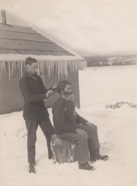 Haircut in snow, 1917