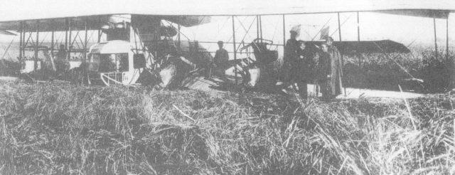 Heavy bomber Ilya Muromets after crash