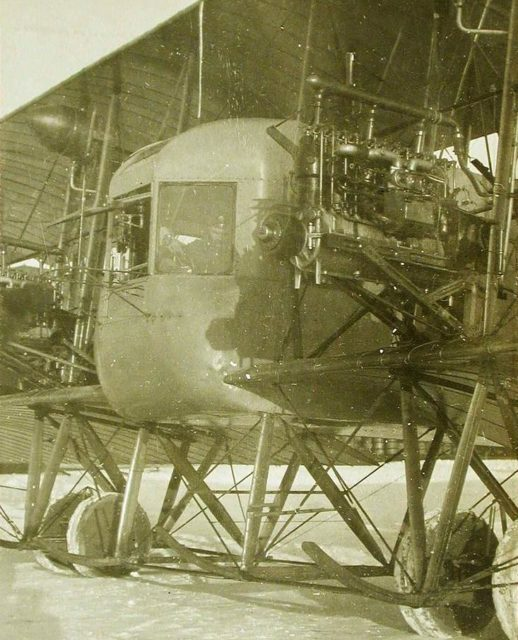 Heavy bomber Ilya Muromets cabin and Argus engine