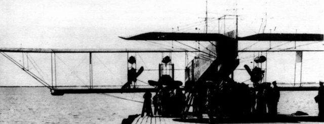 Heavy bomber Ilya Muromets hydroplane test