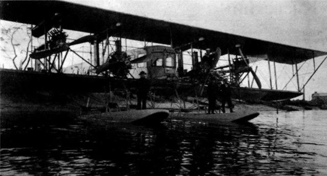 Heavy bomber Ilya Muromets hydroplane