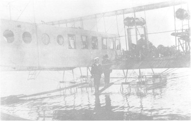 Heavy bomber Ilya Muromets IM-F hydroplane