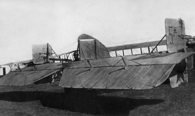 Heavy bomber Ilya Muromets rear gunner station