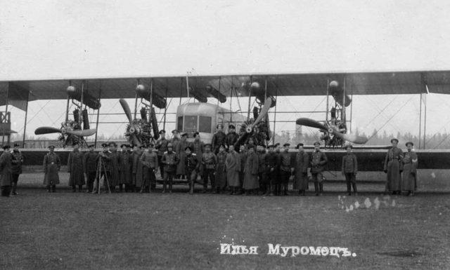 Heavy bomber Ilya Muromets series B Salmson