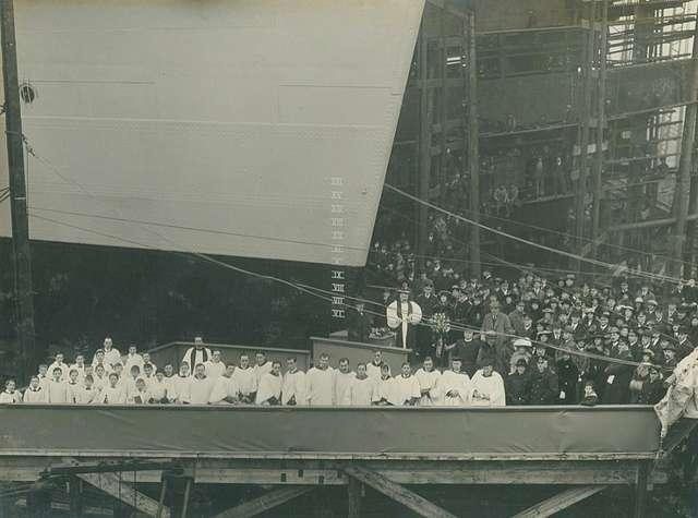 Launch party of HMS Calypso