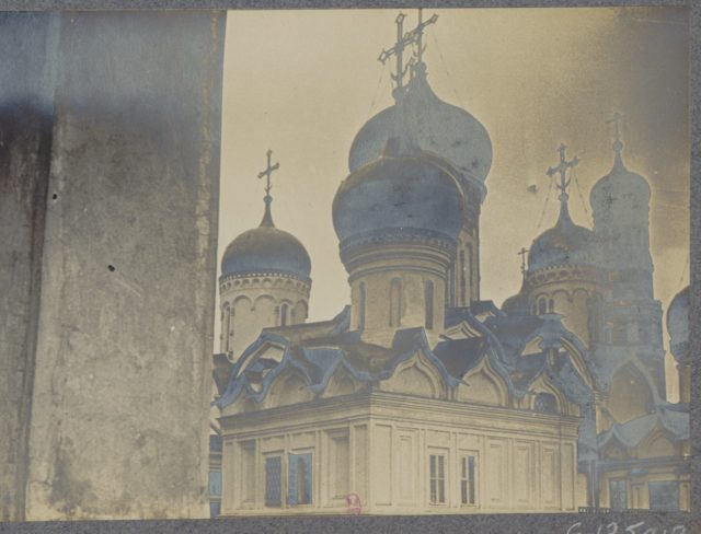 Kremlin, Moscow in 1917. Albert Thomas travel to Russia.