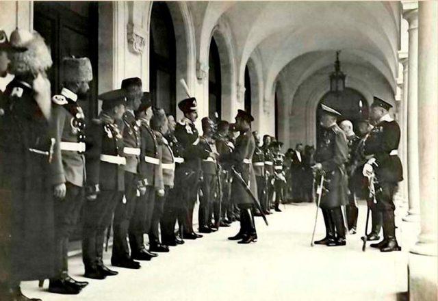 Nicholas II, and his family in Livadiya, Crimea