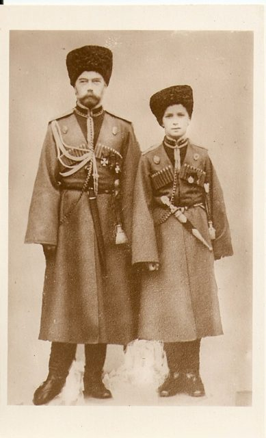 Nicholas II and son