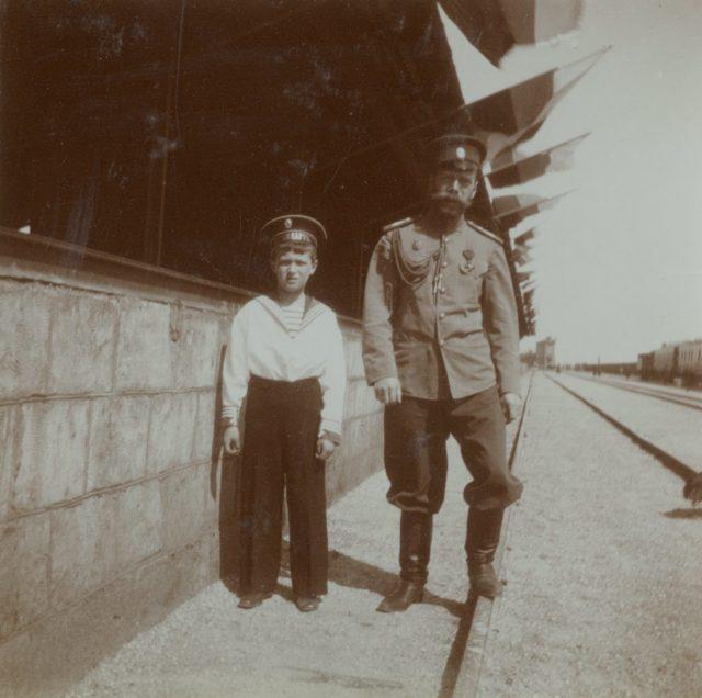 Nicholas II, Tzarevich Alexei. 1914-1917