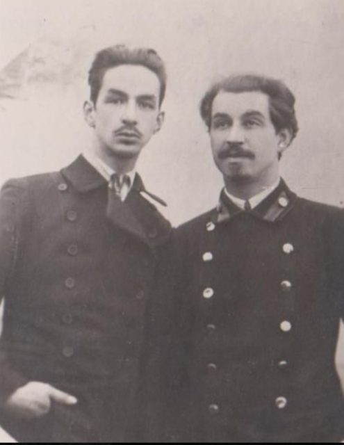 Political exiles in Onega. Bekzadyan Ruben Artemyevitch - Bolshevik (right) and Gaeke Sergey - provocateur.