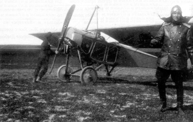 Reconnaissance Airplane Moska-MB pilot