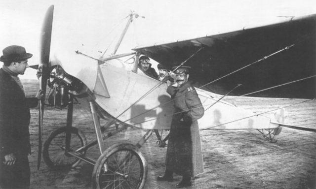 Reconnaissance Airplane Moska-MB crew