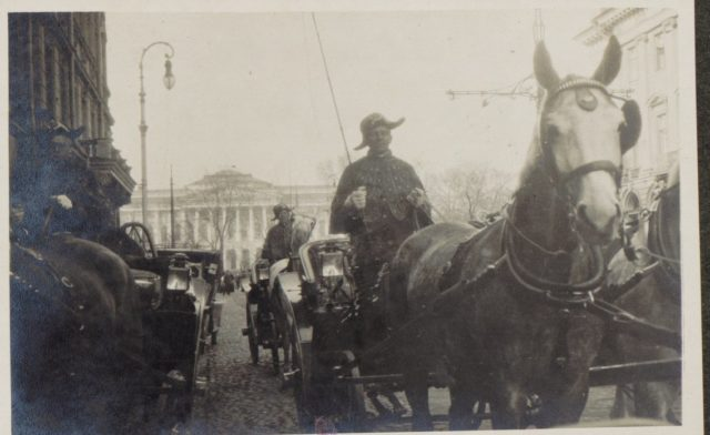 Smolny Palace. Saint Petersburg in 1917. Albert Thomas travel to Russia.