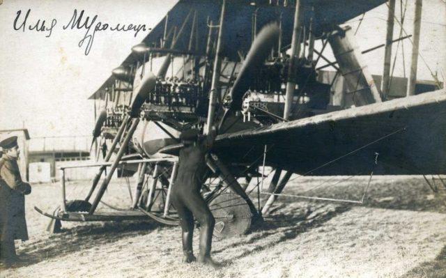 Starting engine of Heavy bomber Ilya Muromets