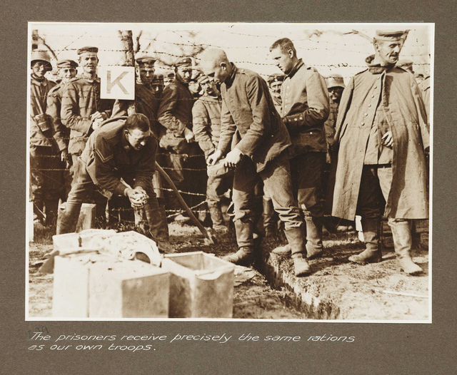 The prisoners receive precisely the same rations as our own troops