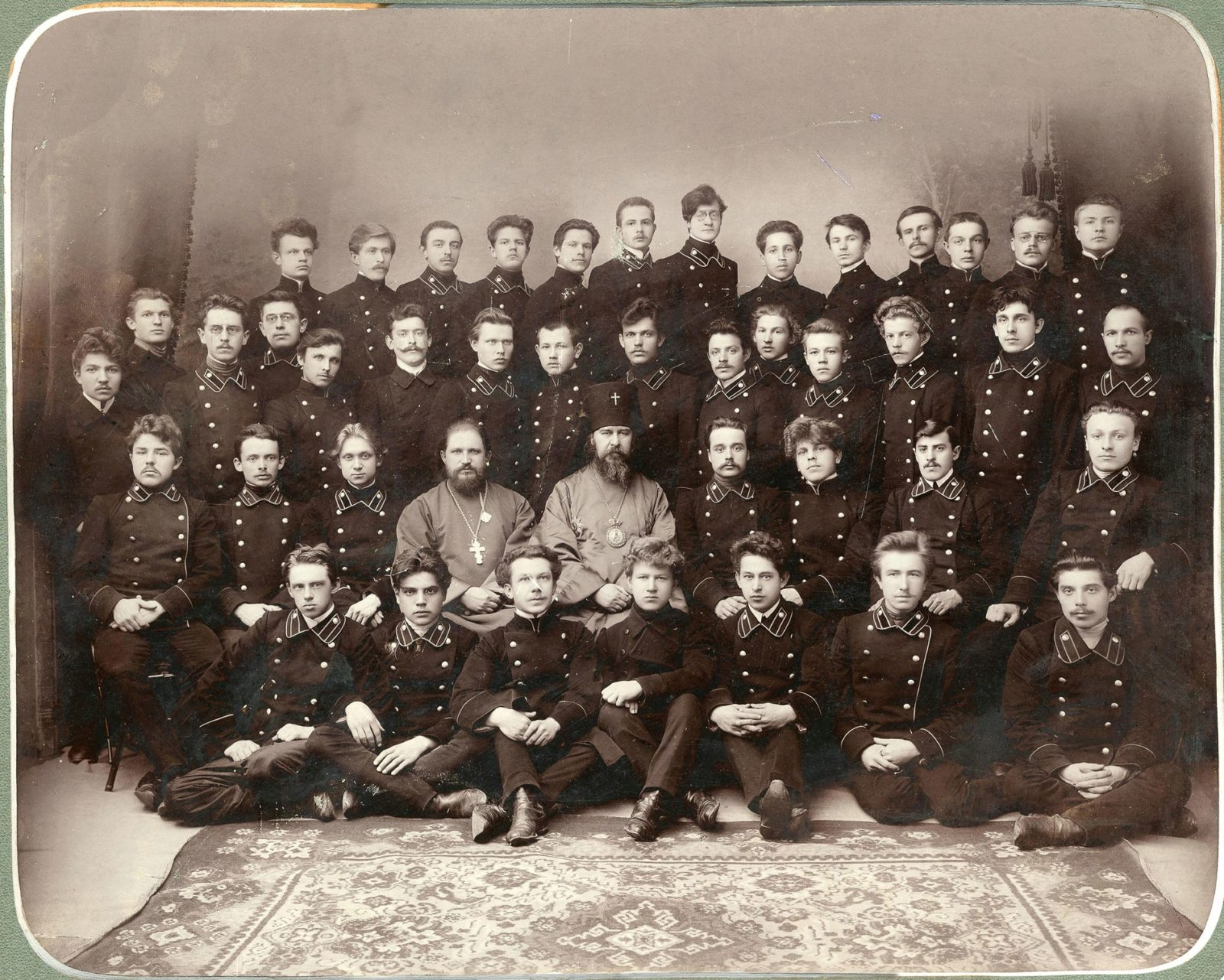 Vladimir, A group portrait of members of a circle of preachers and teachers of the Vladimir Theological Seminary.