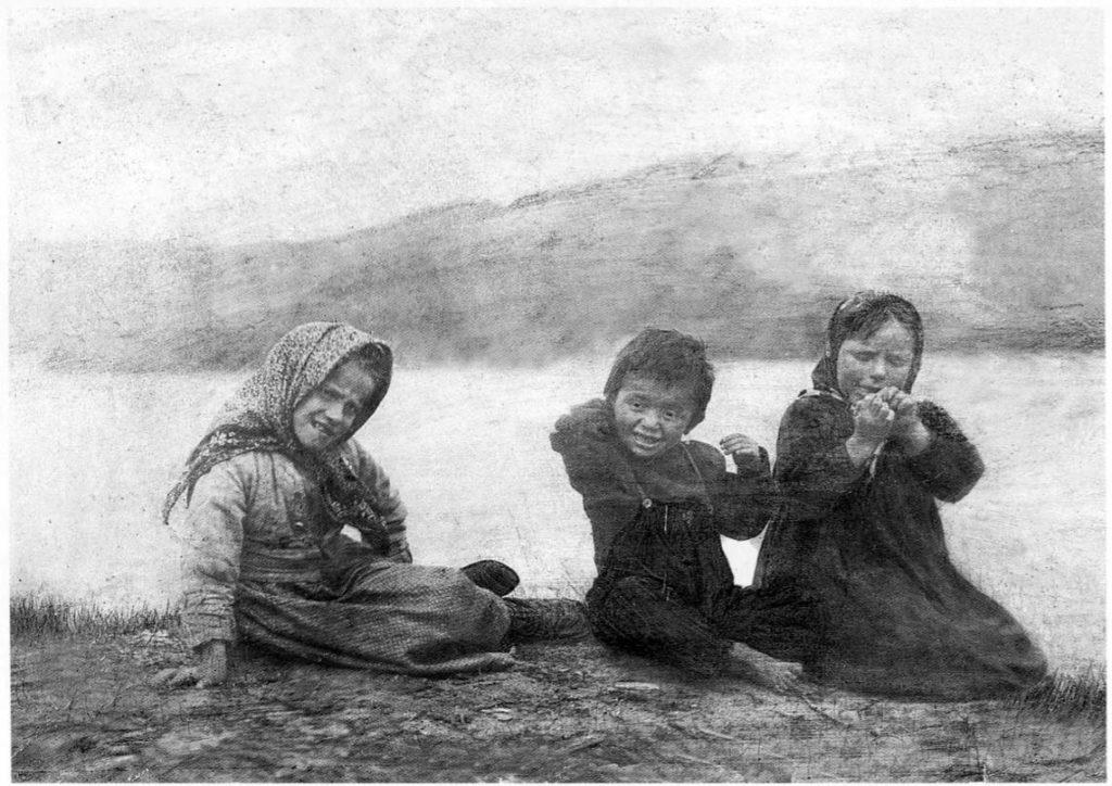 White Sea. Children of the Tersk coast. 1910s - Arkhangelsk (Archangel)