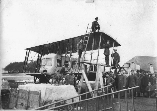 Wing assembly: Heavy bomber Ilya Muromets IM series B