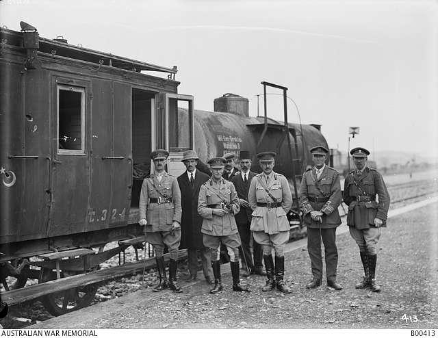 General Chauvel in Aleppo train station 2