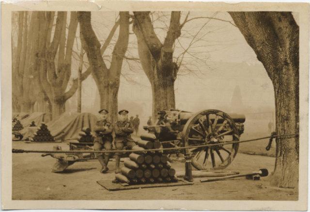 6 inch Howitzer in Hofzarlan (?), Bonn