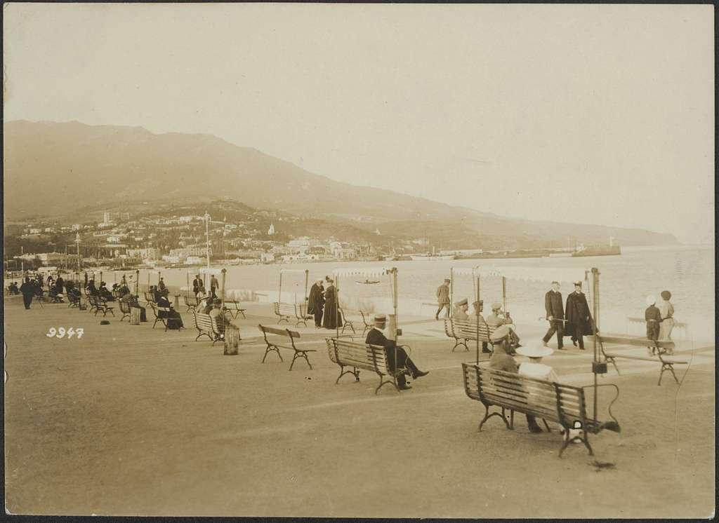 Bilder aus der Ukraine. Jalta (in der Krim): Auf der