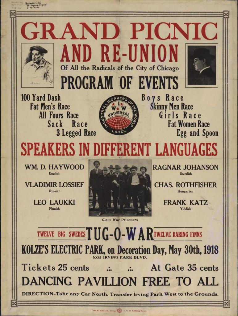 Grand picnic and re-union of all the radicals of the city of Chicago