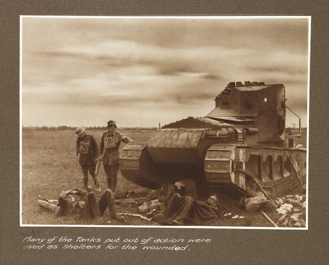Many of the tanks put out of action were used as shelters for the wounded