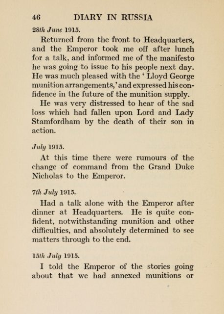 The Emperor Nicholas II, as I knew him by Sir John Hanbury-Williams