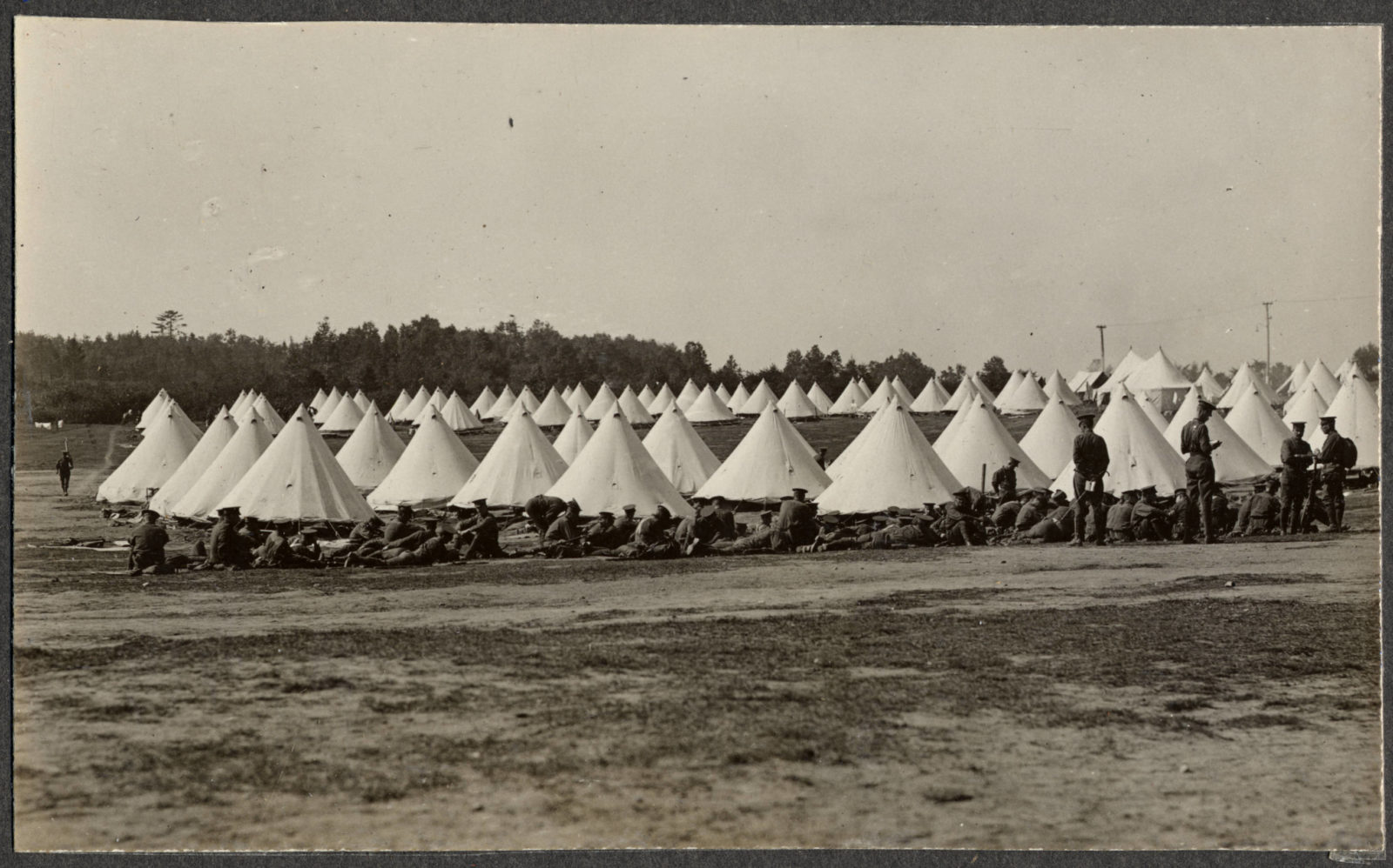 """""""View of Princess Patricias' camp at Levis"""", Montreal Daily Star, p.17, 26 September 1914"""